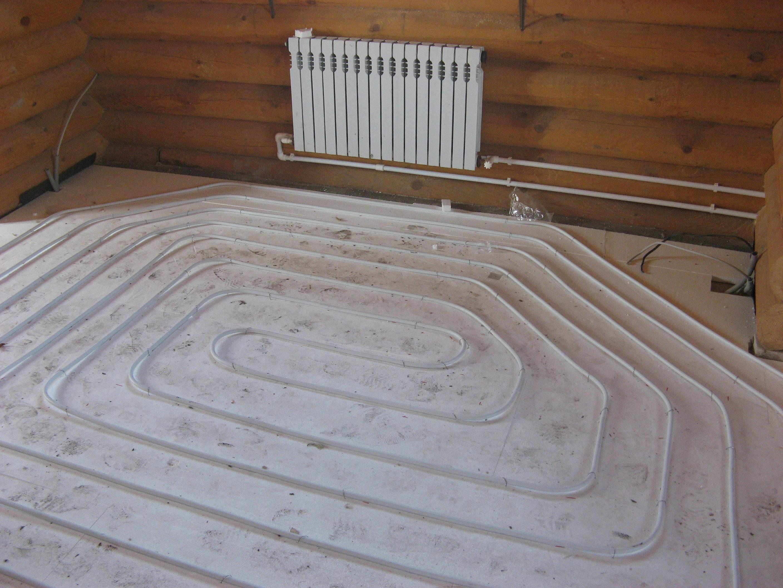 Отопление в частном доме теплый пол своими руками